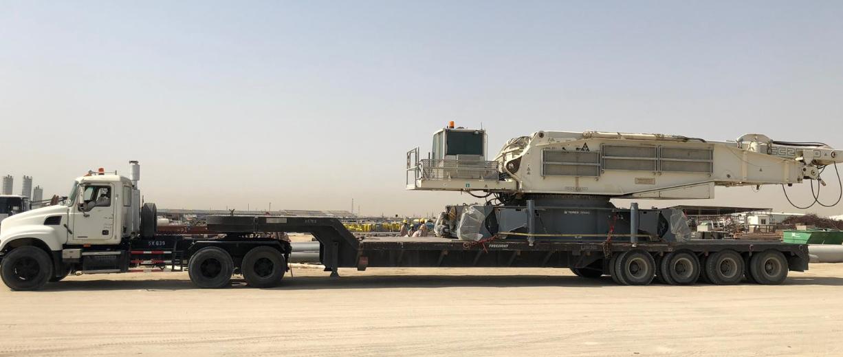Kuwait Transcontinental Shipping Co. Moves Crawler Crane from Kuwait to Qatar 2