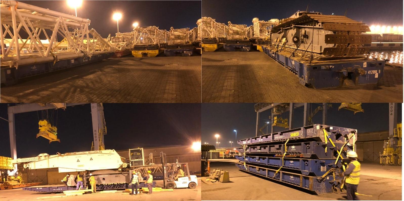 Kuwait Transcontinental Shipping Co. Moves Crawler Crane from Kuwait to Qatar 3