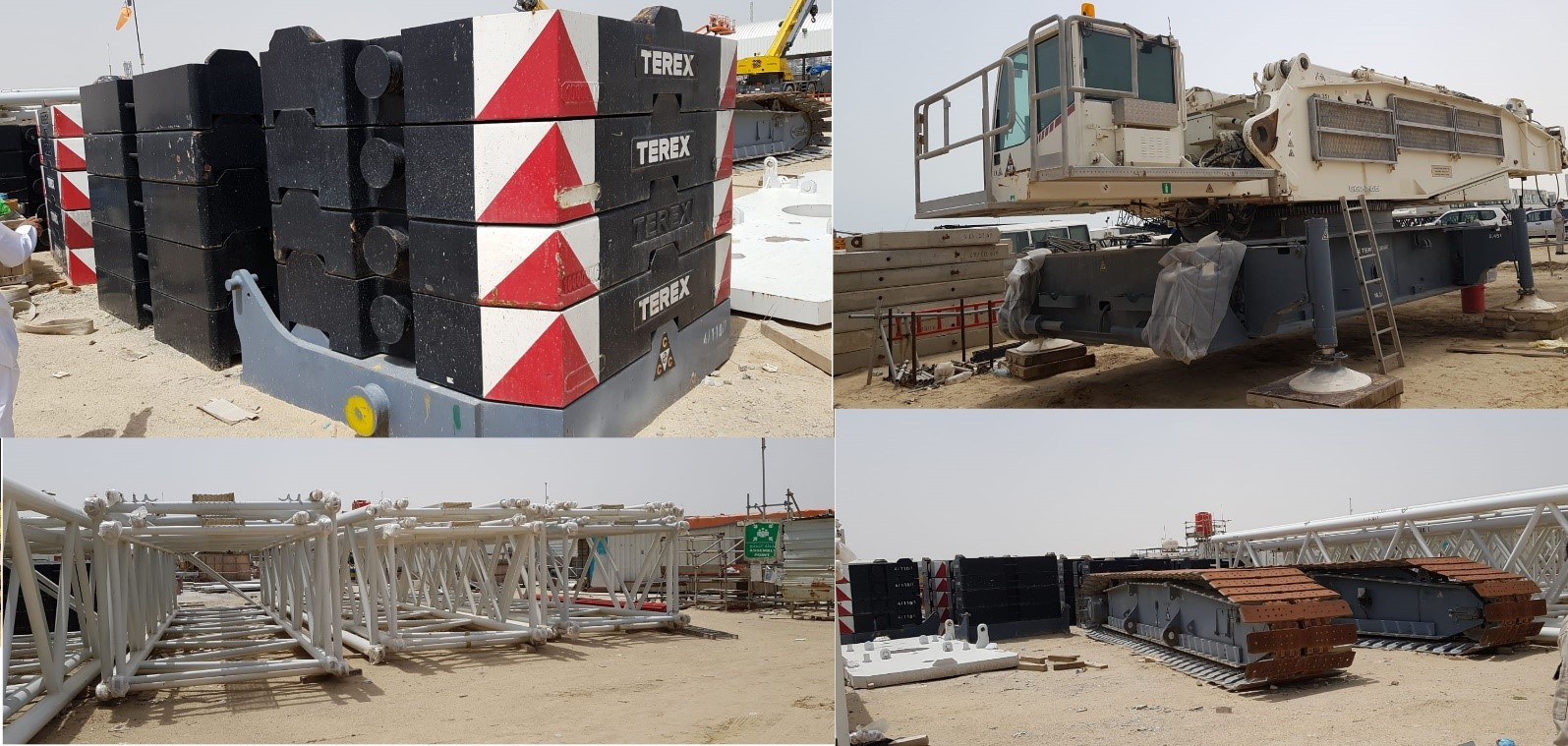 Kuwait Transcontinental Shipping Co. Moves Crawler Crane from Kuwait to Qatar